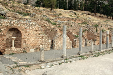 Agora from Ancient Delphi