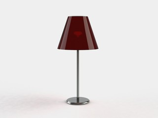 Modern lamp. 3d illustration on white background