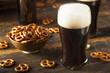Leinwanddruck Bild - Refreshing Dark Stout Beer