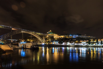 Panoramic night of Porto