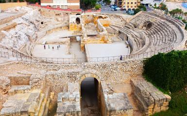 Old  amphitheater at Mediterranean. Tarragona