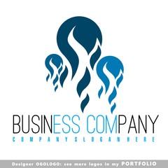 logo, symbol, sign, blu, power, energy, isolated, icons