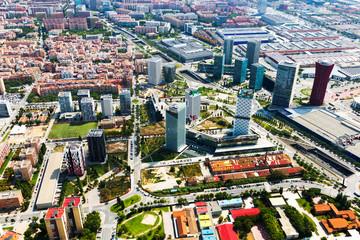 skyscrapers at Sants-Montjuic district. Barcelona