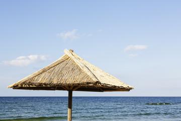 Alone beach umbrela