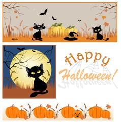 Festive backgrounds for Halloween