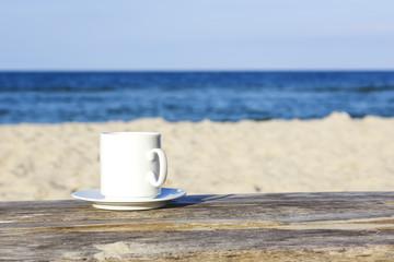 White mug on a table