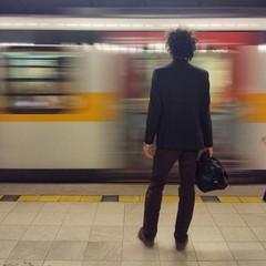Uomo in metro