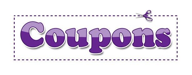 Coupons Purple Scissors