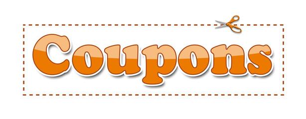 Coupons Orange Scissors