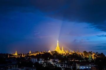 Shwedagon in Yangon city myanmar