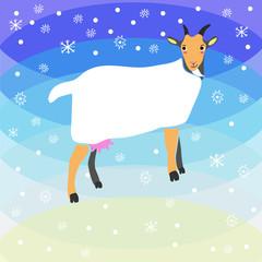 Christmas goat background