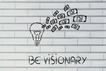 conceptual image of a winning profitable idea