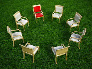 Chairs in circle formation