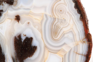 white and brown agate texture