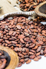 Cocoa beans at the market