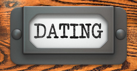 Dating - Concept on Label Holder.