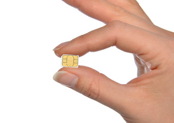 Hand hold micro nano SIM card