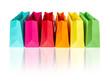 Leinwandbild Motiv bunte Einkaufstüten