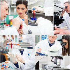 People at work in a medical lab