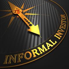 Informal Investor - Business Background. Golden Compass Needle.
