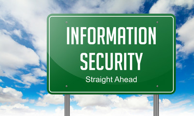 Information Security on Highway Signpost.