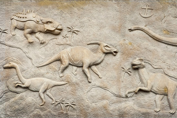 Dino relief