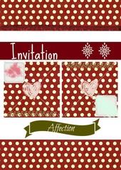 Decoration et vecteur, invitation, affection