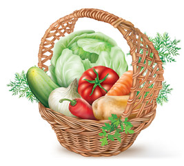 Basket Vegetables