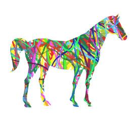 cavallo astratto