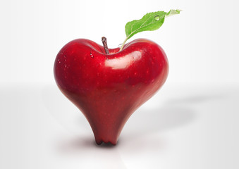Red Apple heart love