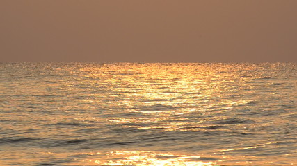 Sea at dawn, Wavy sea with reflection of sunny. HD
