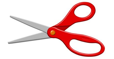 Red Open Scissors