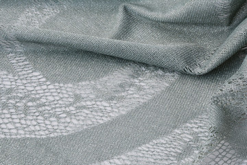 Silver thread lace fabric