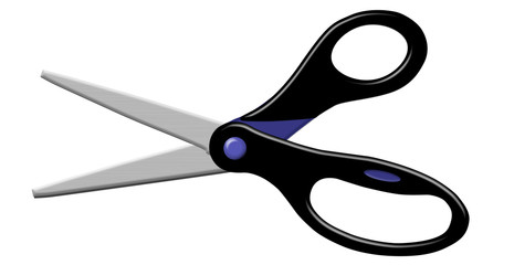 Black Open Scissors