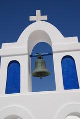 Insel Santorin Kirche griechisch orthodox Glocke Kreuz