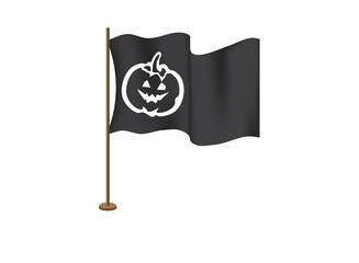 Pumpkin face on the flag on the day of Halloween