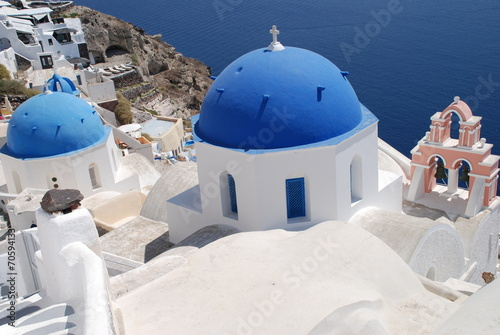 Leinwanddruck Bild Oia Griechenland Santorin Europa Europe Greece