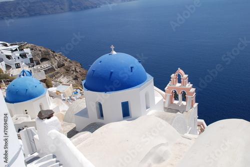 Leinwanddruck Bild Oia Griechenland Santorin Europa Europe Greece Crete