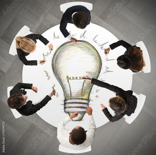 Leinwandbild Motiv Teamwork idea