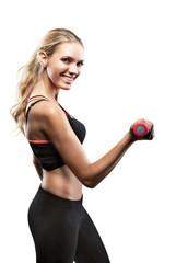 Hübsche Frau beim Workout