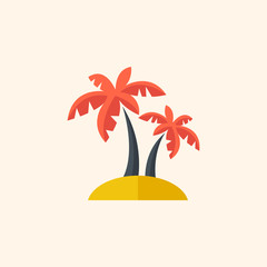 Palm. Travel Flat Icon
