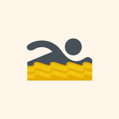 Swimmer. Travel Flat Icon
