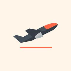 Airplane. Travel Flat Icon