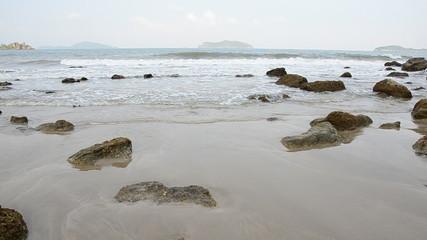 Calm seas cape, gulf of Thailand. HD