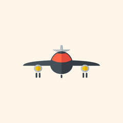 Airplane. Travel Flat Icon