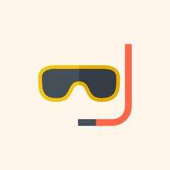 Snorkeling. Travel Flat Icon