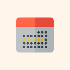 Calendar. Travel Flat Icon
