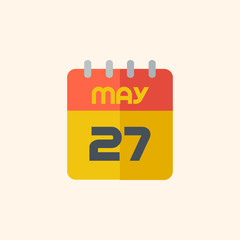 Calendar. Travel Flat Icon