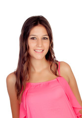 Attractive young girl in pink