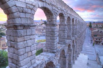 aqueduct in Segovia, Castilla y Leon, Spain